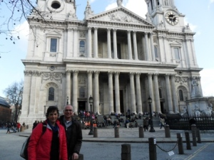 Jenny and I visited St Paul's Cathedral in 2012