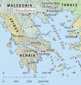 Map of Mcedonia, including Thessalonica