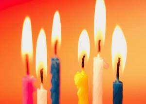 Birthday candles, flame, wind