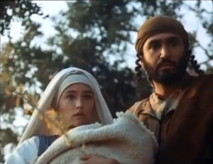 Mary and Joseph with baby Jesus