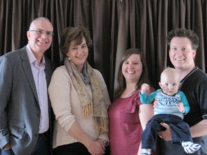 Jenny and I had our photo taken just last week with Mathew, Naomi and baby Jeremiah