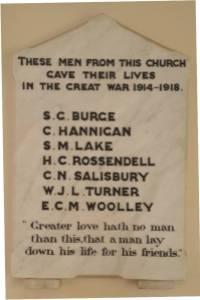 Plaque WWI