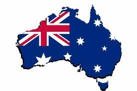 Aust map and flag